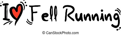 Fell Running love - Creative design of Fell Running love