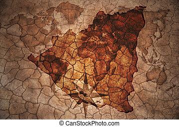 vintage nicaragua map - nicaragua map on vintage crack paper...