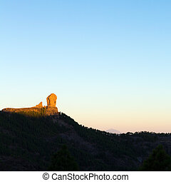 Gran Canaria, Caldera de Tejeda, morning light - Gran...