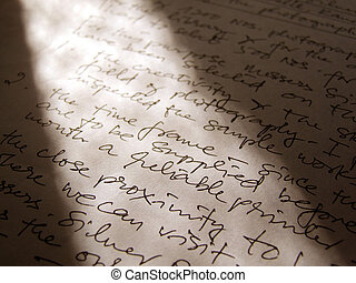 English handwriting - English business letter with...