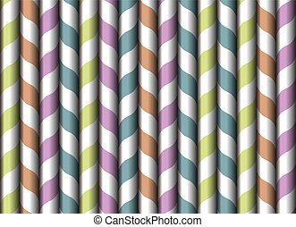 Drinking straw seamless wallpaper vintage vector