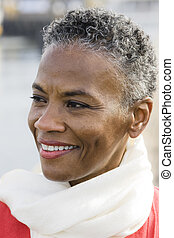 African American Woman - Portrait of a Beautiful African...