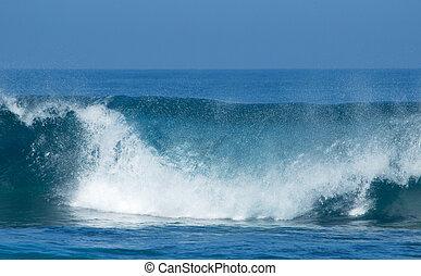 breaking waves - powerful ocean waves breaking natural water...
