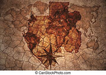 vintage gabon map - gabon map on vintage crack paper...