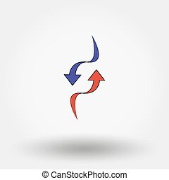 Up and Down Arrow. Icon for web and mobile application....