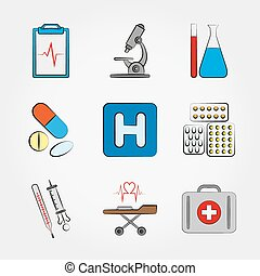 Medical icons set. - Medical icons set for web and mobile...