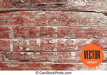 Vector old wooden planks texture grunge background