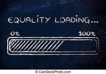 carga, igualdad,  progess, Ilustración, barra
