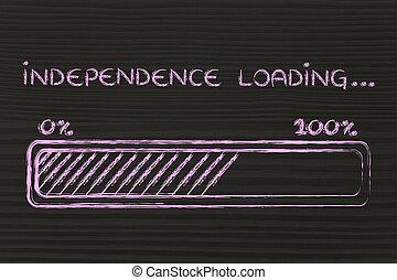 carga,  progess, barra, independencia, Ilustración