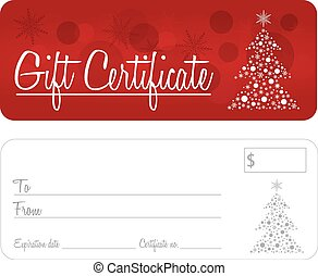 Gift Certificate Christmas vector - Gift certificate...