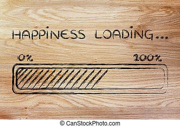 carga,  progess, barra, felicidad, Ilustración