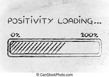 carga,  progess,  Positivity, barra, Ilustración