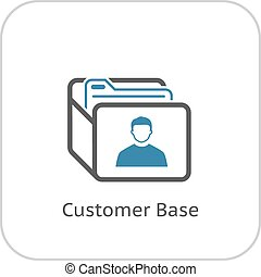 Customer Base Icon Business Concept Flat Design Isolated...
