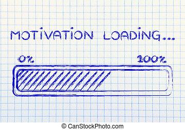carga,  progess, motivación, barra, Ilustración