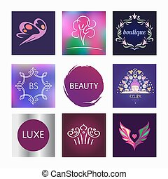 Vector element design, se logos for beauty salon, cosmetic...