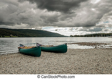 Boats in Coniston Lake