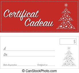 French Gift Certificate Christmas - French Gift certificate...