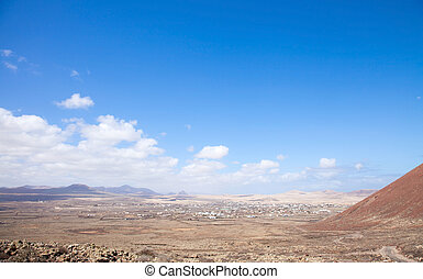 Fuerteventura, Canary Islands, path from Lajares to Calderon...
