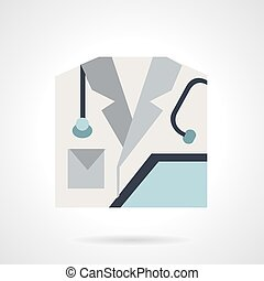 Medical personnel flat vector icon