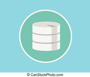 database flat data server save concept flat vector