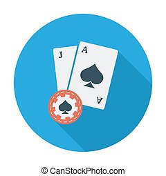 Blackjack Flat vector icon for mobile and web applications...