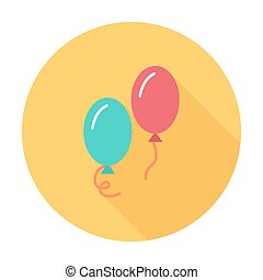 Ballon icon icon. Flat vector related icon with long shadow...