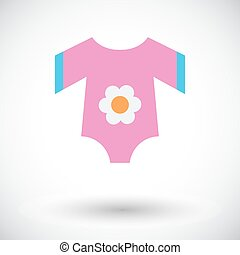 Baby clothes icon. Flat vector related icon for web and...