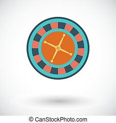 Roulette icon Flat vector related icon for web and mobile...