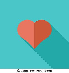 Card suit - Suit of heart icon Flat vector related icon with...