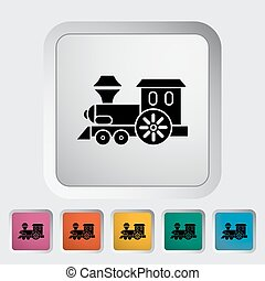 Train toy icon. Flat vector related icon for web and mobile...