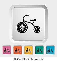 Tricycle icon. Flat vector related icon for web and mobile...