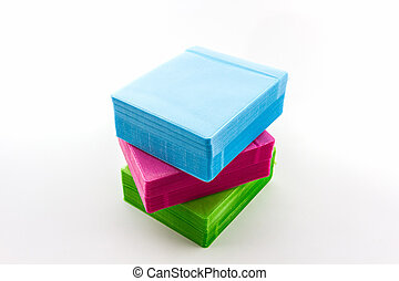 Colorful of CD paper case. - Colorful of CD paper case on...