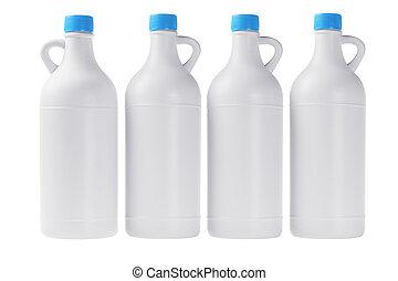 White Plastic Detergent Bottles