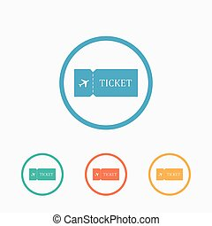 Blank ticket plane icon - Blank plane ticket icon Travel...