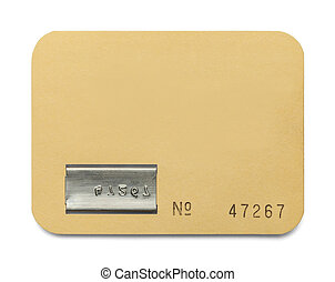 Blank Membership Card - Paper ID Card with Copy Space...
