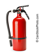 Fire Extinguisher - Red Fire Extinguisher With Copy Space...