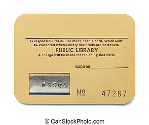 Library Card - Old Paper Library Card with Copy Space...