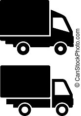 Lorry van icons set