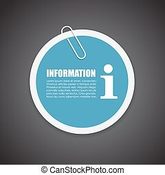 Information sticker - Information vector round sticker