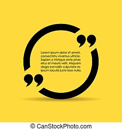Quote text box - Quote vector text box