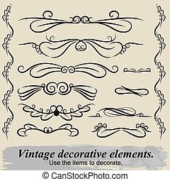 Vintage decorative elements 6.