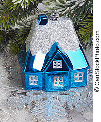 Dark blue New Years toy small house