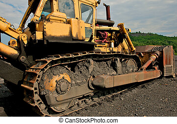Industrial image of bulldozer. - Industrial image of...