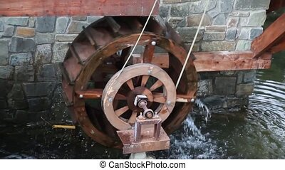 Spinning wheel watermill Ukraine 2