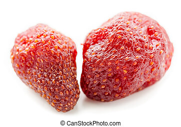 Dried strawberries - Dried strawberries isolated on white...