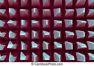 Anechoic electromagnetic or sound chamber - Anechoic wall...