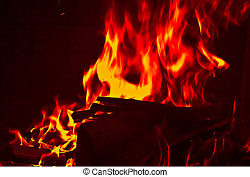 Clip Art of Satanic Hell Background - Fire red hot flames and ...