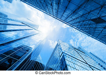 Modern business skyscrapers, high-rise buildings,...