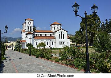 Greece, Kavala - Greece, church Agio Grigorio in Nea Karvali