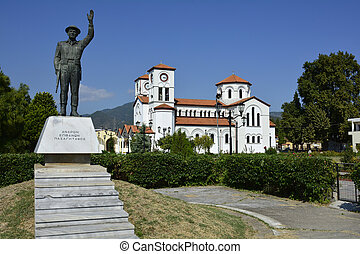 Greece, Kavala - Greece, church Agio Grigorio and war...